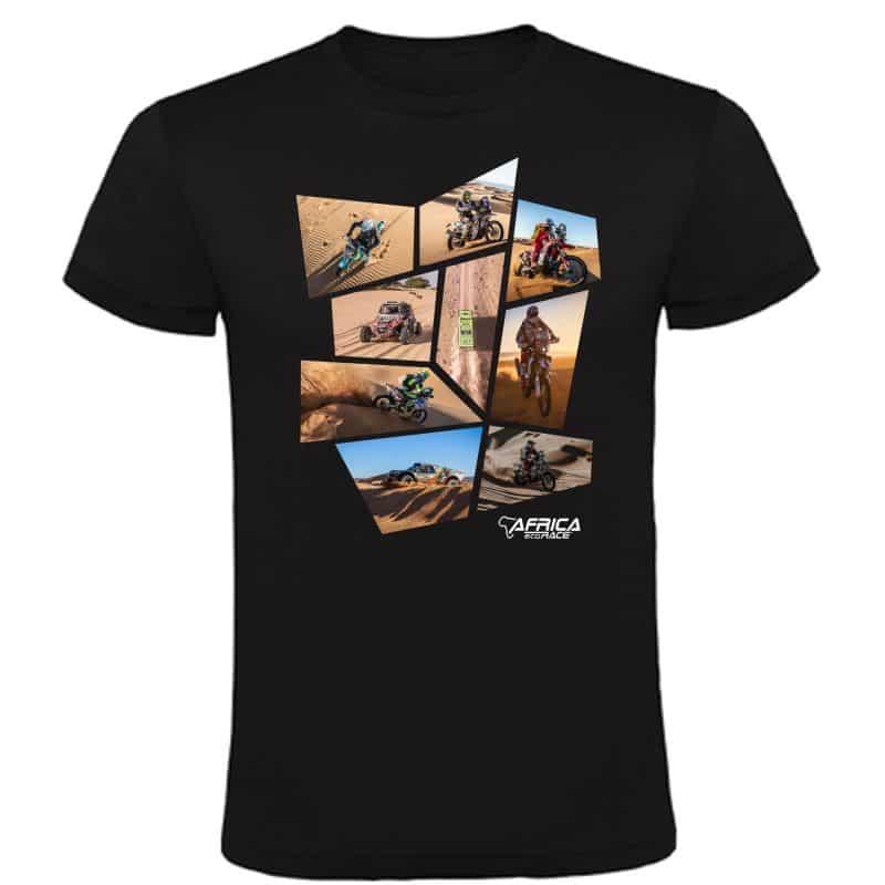 T shirt NOIR Patchwork