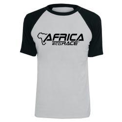 T shirt Raglan GRIS NOIR Logo Africa Race