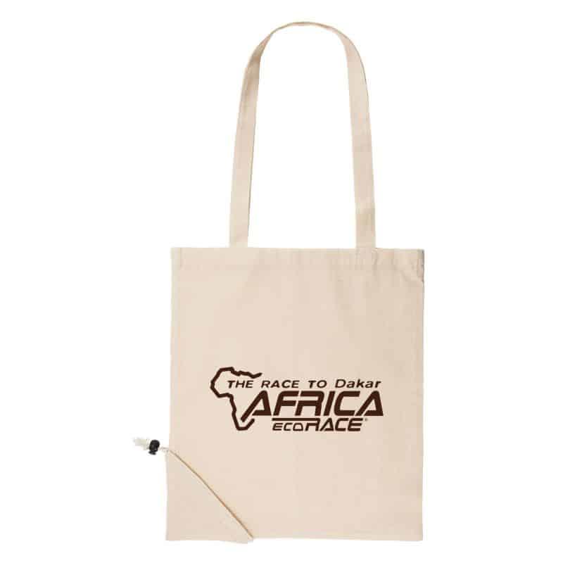 Sac Shopping Pliable ECRU Logo Africa Race