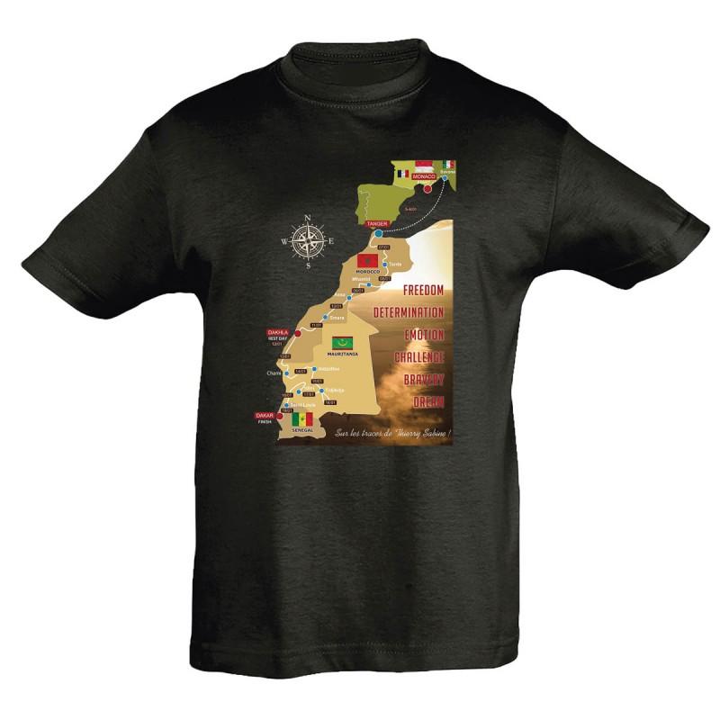 T-shirt enfant Parcours 2020 Africa Race noir
